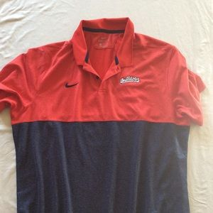 Red and Blue Fresno State Polo Shirt